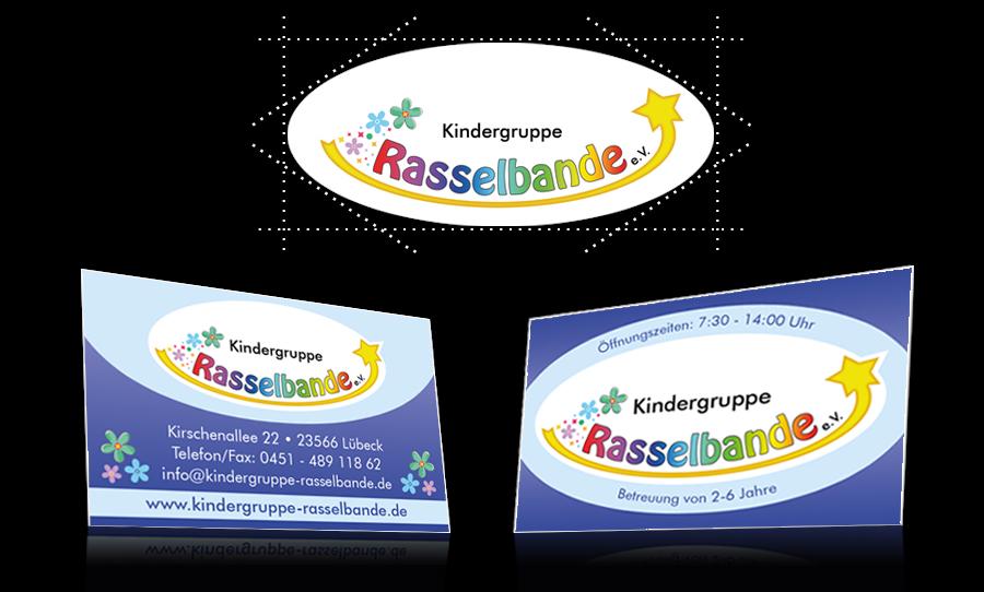Logo und Visitenkarte Rasselbande