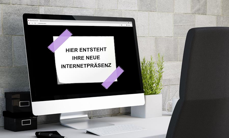 Hier entsteht Ihre neue Internetpräsenz